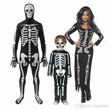 Skeleton Dress Skeleton Halloween Costume Cosplay Cool Living Dead Skeleton