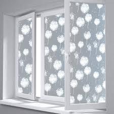 Window Decor Film Aliexpress Com Buy Fancy Fix 55cm Width Dandelion Frosted Glass