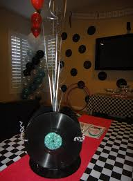 Disco Party Centerpieces Ideas by Centerpiece Made From Records 1950s Party Pinterest