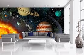 3d solar system wall mural night sky wall murals pinterest