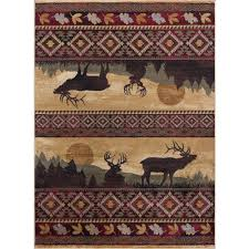 Nature Area Rugs Tayse Rugs Nature Red 7 Ft 10 In X 10 Ft 3 In Lodge Area Rug