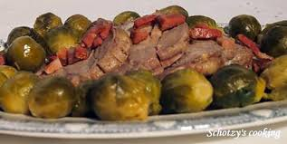 cuisiner des choux de bruxelles recette de rôti de porc aux choux de bruxelles