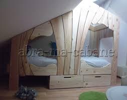 chambre cabane enfant lit cabane bois massif enfant sequoia abra ma cabane