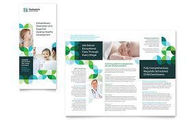pediatric doctor tri fold brochure template word u0026 publisher