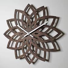 wooden wall clock lotus u2013 nygaard design