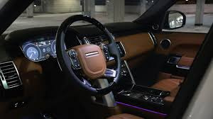 original range rover interior 2016 2017 range rover vogue interior review at night ambient