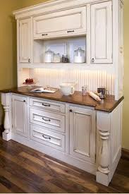 Best  White Distressed Cabinets Ideas On Pinterest Country - Enamel kitchen cabinets