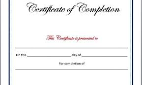 certificate of completion free template word completion certificate template for word gallery certificate