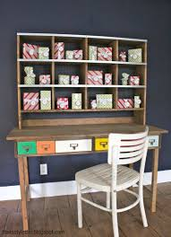 Desks With Hutches Storage White Industrial Style Storage Hutch Diy Projects