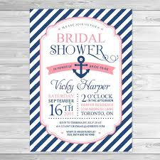 make your own bridal shower invitations nautical bridal shower invitations cloveranddot