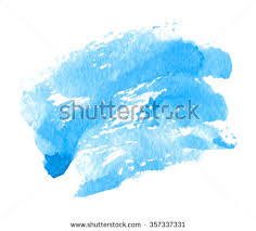 abstract blue watercolor blot on white stock vector 260957273