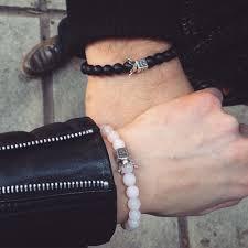 bracelet quartz images Rose quartz and onyx queen king bracelets illusion boutique jpg