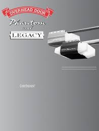 Overhead Door Legacy Owners Manual Legacy Garage Door Opener Legacy 696cd B Garage Door Opener Owners