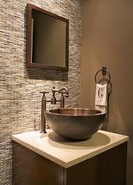 The Vanity Room Powder Room Ideas I Like The Tile Behind The Vanity Bathrooms