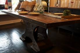 industrial dining room table modern reclaimed wood dining table industrial dining table and