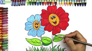 coloring pages bear how to draw cute flower learn coloring