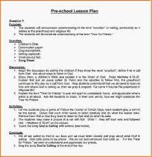 6 sample lesson plan for preschool loan application form