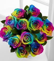 tie dye roses happy roses also known as rainbow roses are the most expensive