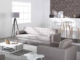 canape blanc et gris fauteuil en tissu gris et blanc avec pied bois torvald achatdesign