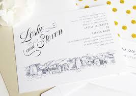 Wedding Invitations Packages Salt Lake City Skyline Hand Drawn Lds Wedding Invitation Package