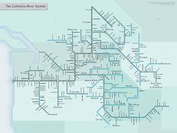 Columbia Campus Map The Columbia River System Subway Map Style Dave Knows Portland