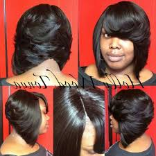 Short Bob Weave Hairstyles Feathered Bob On Pinterest Quick Weave Bob African Hairstyles