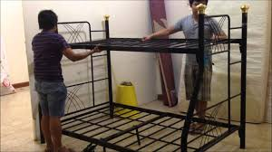 how to assemble a double deck bed youtube