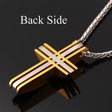 mens christian jewelry jesus cross pendant christian jewelry yellow gold plated