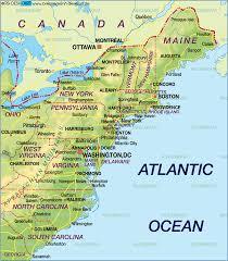 map usa states boston map usa east coast states major tourist attractions maps