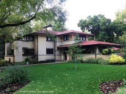 Backyard Little House Frank Lloyd Wright Prairie Architecture In Illinois Photo
