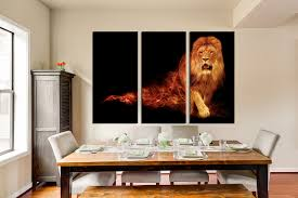 3 piece canvas wall art lion huge canvas print wildlife canvas 3 piece photo canvas dining room canvas wall art lion multi panel art
