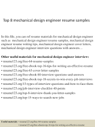 Sample Resume Format For Final Year Engineering Students by Top8mechanicaldesignengineerresumesamples 150402023455 Conversion Gate01 Thumbnail 4 Jpg Cb U003d1427960142