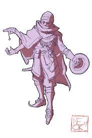 art drew a quick sketch of my trickery cleric salazar dnd