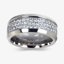 warren wedding rings titanium diamonflash sup sup cubic zirconia