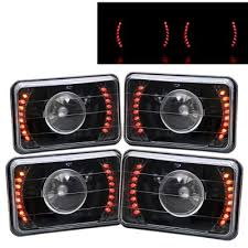 1986 chevy c10 tail lights chevy c10 pickup 1981 1987 red led black sealed beam projector
