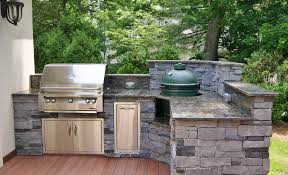 Ideas For Outdoor Kitchen by Big Green Egg Built Into Outdoor Kitchen Outofhome