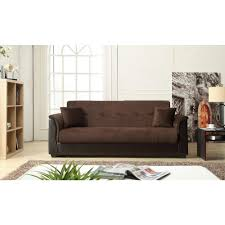 champion futon chocolate sofa bed with storage 72016 06ch the