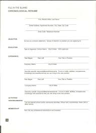 form for a resume resume for your job application