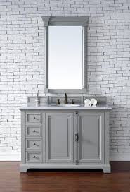 abstron 48 inch grey finish single transitional bathroom vanity