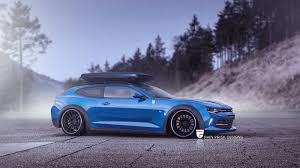 blue station wagon 7 crazy station wagon renders based on sports cars gtspirit