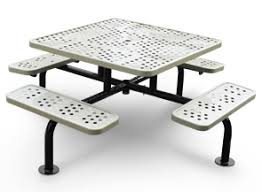 square picnic table with umbrella hole surface mounted picnic