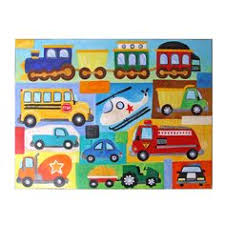 Artwork For Kids Room by Transportation Nursery Art Custom Truck And Car Painting 36x24