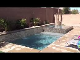 small pools and spas small pool negative edge spa youtube