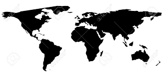 Vector World Map A Black And White World Map Illustration Royalty Free Cliparts
