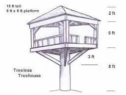 free house blueprints free tree house building plans 5497
