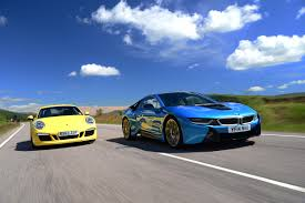 Bmw I8 911 Back - bmw i8 vs porsche 911 auto express