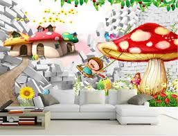 wallpaper 3d mushroom custom mural wallpaper kids room 3d photo wallpaper mushroom flower