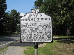 The Monroe House by James Monroe Birthplace Westmoreland County Virginia