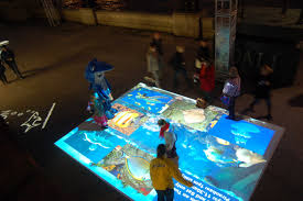 interactive floor projection lets you experience the marvelous way