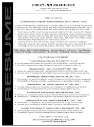 Makeup Resume Examples by Makeup Artist Resume Sample Jennywashere Com